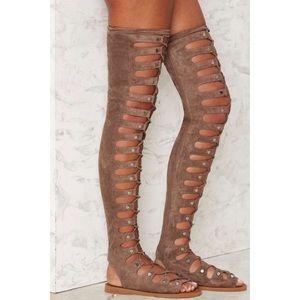 Jeffery Campbell Olympus Gladiator Sandals.